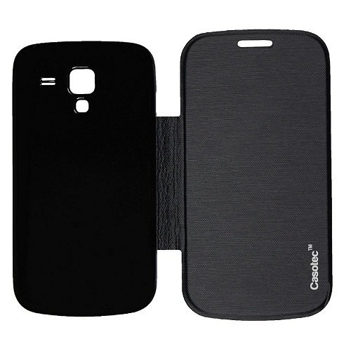 Casotec Premium Flip Case Cover for Samsung Galaxy S Duos 7562 - Black  available at amazon for Rs.175