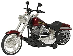 """New Bright 12"""" Battery Operated Harley Davidson Softail Bike, Red"""