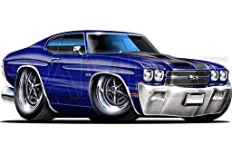 Chevelle SS 1970 Blue 48 inch Wall Skin Graphic