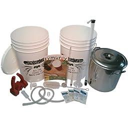HomeBrewStuff Beginner Brewer\'s Starter Beer Equipment Kit with 20 Quart Brew Pot