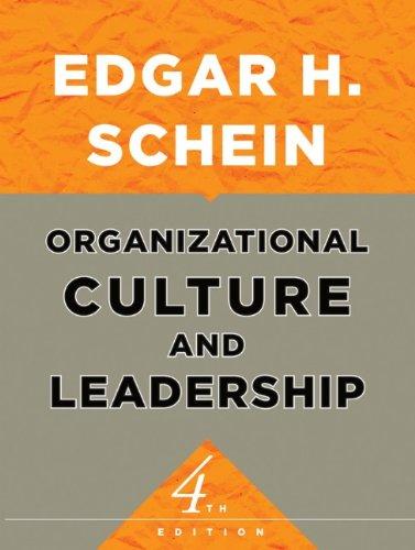 Organizational Culture and Leadership PDF