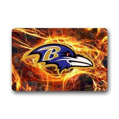 LaHuo Super Bowl MVP Baltimore Ravens Custom Design Doormats Outdoor Indoor Stairs Bath Front Door Small Rug Machine-Washable Neoprene Rubber Doormat