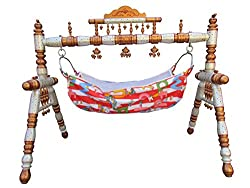Baby Cradle Ghodiya Baby Swing Folding Cradle Strong Wooden Cradle Baby Care Item