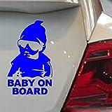 Amazon.co.jpGGG JP ラブリー自動車車のリア ウィンドウのステッカー 赤ちゃんは車にいる上公示ステッカー(ブルー)