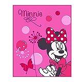 Disney Minnie Mouse - Mantas Niños - Color de Rosa - Tamaño 110x140 cm