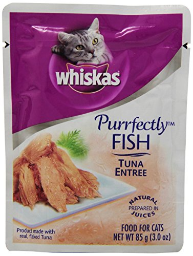 Whiskas purrfectly fish tuna entree cat food pouches 3 oz for Is tuna fish good for cats