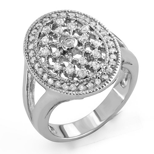 Wedding Anniversary Cubic Zirconia Round Bridal Band Ring Sterling Silver 925 Sz6