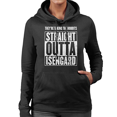 Straight Outta Isengard Lord Of The Rings Women's Hooded Sweatshirt