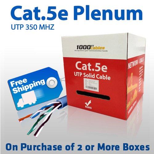 cat5e plenum solid 350mhz 1000ft bulk cable blue