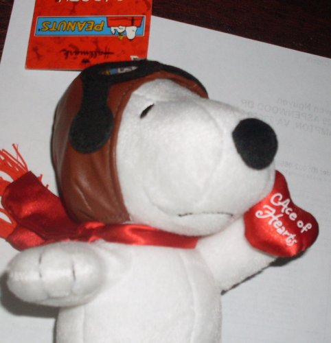 "Hallmark Peanuts Flying Ace Pilot Snoopy W ""Ace Of Hearts"" Valentine front-797396"
