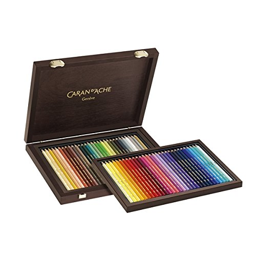 Caran D'Ache Supracolor Limited Edition 30th Anniversary Watercolor Pencil Wood Box Set of 60 (Tamaño: Limited Edition Wooden Box Set)