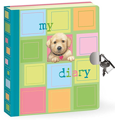 Peaceable Kingdom / Puppy Lock & Key Diary front-704076