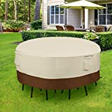 SONGMICS Round Patio Outdoor Table and Chair Set Cover Water Resistant UGTC72M