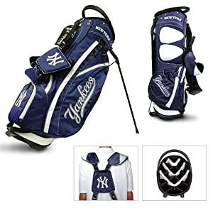 MLB New York Yankees Fairway Stand Golf Bag, Navy by Team Golf