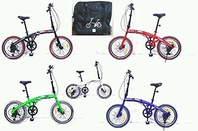 "20"" Folding bike - with carry bag, front & rear lights, kick stand comfy saddle"