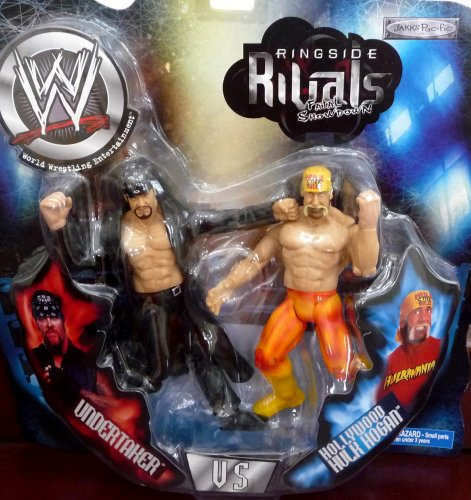 Buy Low Price Jakks Pacific Undertaker vs. Hollywood Hulk Hogan WWE Ringside Rivals: Fatal Showdown Toy Figures (B004WKVBPM)