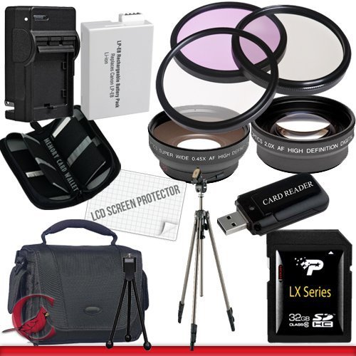 Canon T4I Accessory Saver Kit (58Mm Wide Angle Lens + 58Mm 2X Telephoto Lens + 58Mm 3 Piece Filter Kit + 32Gb Sdhc Memory + Extended Life Battery + Ac/Dc Charger + Usb Card Reader + Deluxe Camera Case W/Strap + Full Size Tripod + Lcd Screen Protectors + M