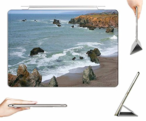iRocket iPad 2/3/4 Case + Transparent Back Cover, schoolhouse beach bodega bay cal., [Auto Wake/Sleep Function] (Schoolhouse Rock Numbers compare prices)