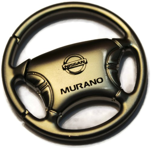 Nissan Murano Chrome Steel Ring Fob Wheel Authentic Logo Key Ring Fob Keychain (Nissan Murano Cast compare prices)