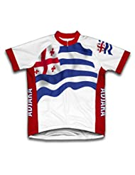 Ajaria Flag Short Sleeve Cycling Jersey for Women