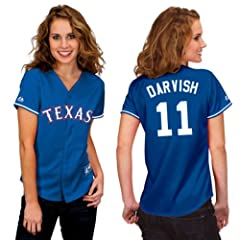 Yu Darvish Texas Rangers Alternate Royal Ladies Replica Jersey by Majestic by Majestic