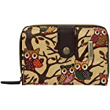 SwankySwans Classic Tree Owl Small Wallet in Beige