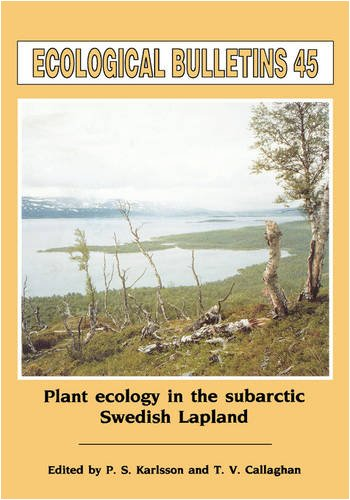 Ecological Bulletins, Plant Ecology in the Sub-Artic Swedish Lapland
