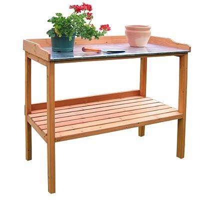 Habau Gartentisch mit verzinkter Arbeitsplatte von Habau auf Gartenmöbel von Du und Dein Garten