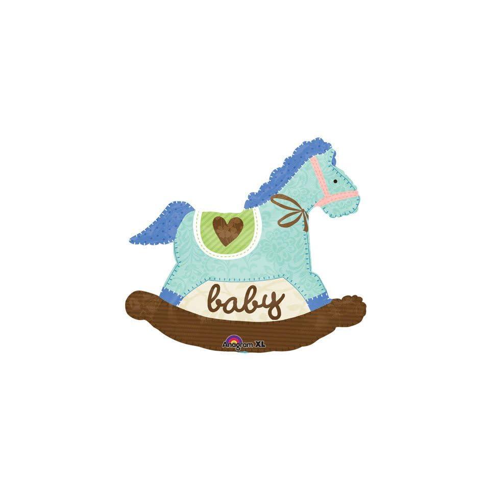 Anagram International Rocking Horse, 29, Baby Blue