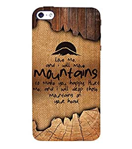 Love Quote 3D Hard Polycarbonate Designer Back Case Cover for Apple iPhone 5S