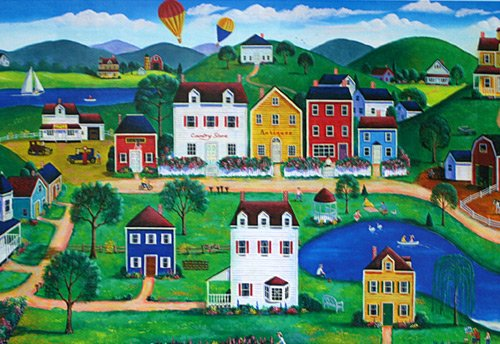 Americana Puzzle - Balloons Over the City 500 pc
