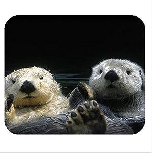 独特なデザイン カスタマイズ Amazing cute otter pattern 可愛いカワウソ画像 マウスパッド ,Personalized mouse pad DIY mousemat [並行輸入品]