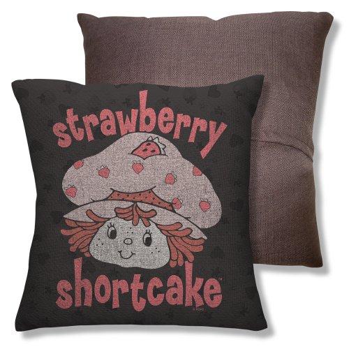 Wicked Tees Strawberry Shortcake Smile Throw Pillow front-874596