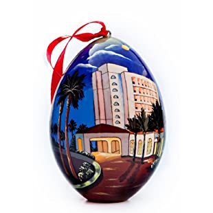 Huntington Beach Hilton Waterfront Beach Resort Souvenir Ornament - Nighttime View