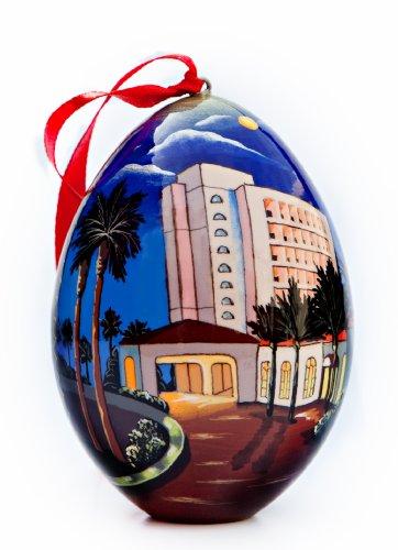 Huntington Beach Hilton Waterfront Beach Resort Souvenir Ornament - Nighttime View