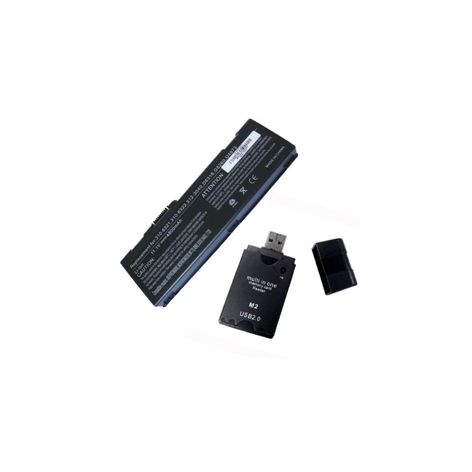 Replacement for Dell Inspiron 6000 Laptop Battery With USB2.0 All In One Card Reader
