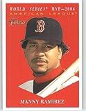 2010 Topps Heritage Baseball Card # 481 Manny Ramirez (MVP Award Winners / Short Print) Boston Red Sox - Mint Condition - MLB Trading Card