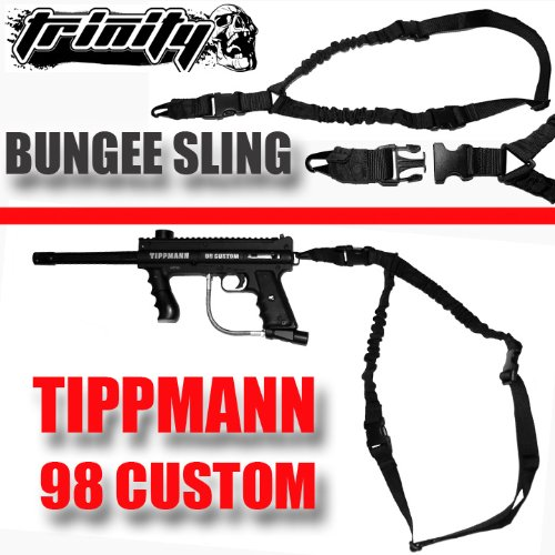 Trinity Supply Cobra Sling, One Point Sling For Tippmann Custom 98 Paintball Marker, Tippmann Model 98 Sling,Paintball Sling,One Point Bungee Sling For Paintball Markers,Tactical One Point Bungee Sling With Quick Disconnect System, , Tippmann Paintball, B