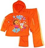 Dora The Explorer Girls Fleece Hooded Jacket with Pants 2Pc Set