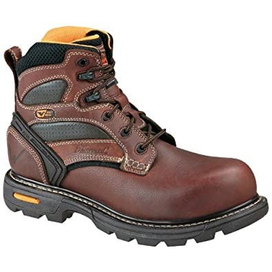 Thorogood 804-4446 Men's Gen-Flex2 6-inch Plain Toe Composite Toe Boot Brown 7 M US