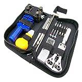 (ドノロロジオ)DonOrologio 腕時計 コレ1つで十分 工具 セット 15点 修理 電池 交換 用 道具 ツール 専用バッグ付き バネ棒 コマ はずし ハンマー 万力
