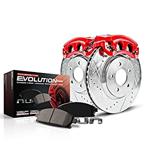 Power Stop KC1950 1-Click Performance Brake Kit with Calipers, Rear Only
