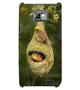 ColourCraft Birds and Nest Design Back Case Cover for SAMSUNG GALAXY S2 I9100