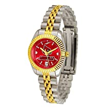 "Louisville Cardinals NCAA AnoChrome ""Executive"" Ladies Watch"