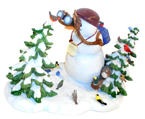 Limited Edition Lenox The Birdwatcher Snowman Sculpture By Lynn Bywaters