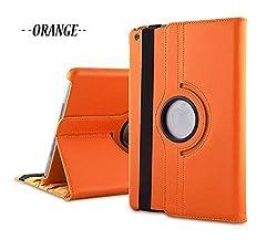 TGK 360 Degree Rotating Leather Case Cover Stand for iPad Mini Retina Display - Orange