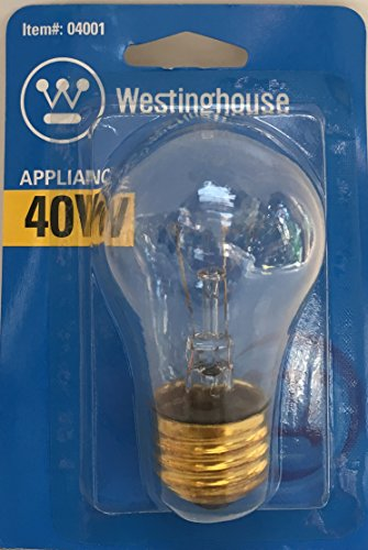 Westinghouse Appliance 40 Watt A15 Light Bulb 350 Lumens 2700K Clear E26 Medium Base (Westinghouse Refrigerator compare prices)