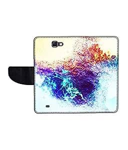 KolorEdge Printed Flip Cover For Samsung Galaxy Note 2 N7100 Multicolor - (55KeMLogo11123SamN7100)