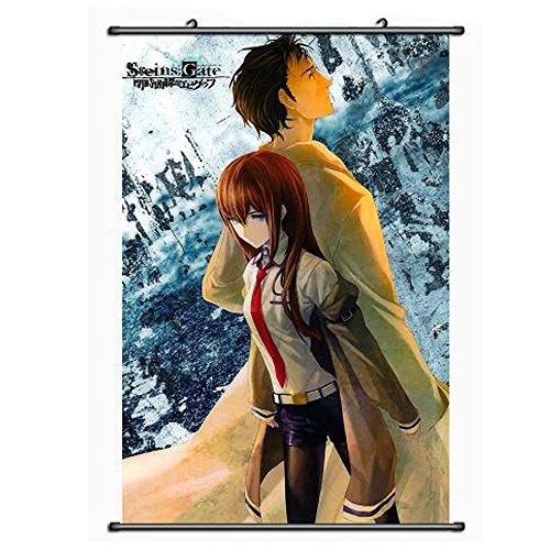 [Onecos Steins Gate Makise Kurisu Poster Fabric Scroll Painting Wall Picture 1PCS] (Kurisu Makise Cosplay Costume)
