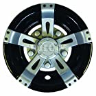 Wheel Cover, 8 Vegas Silver Metallic w/ Black